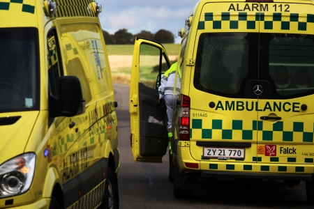 Rescuer in action. Ambulance. Denmark Stock Photo - 15485432
