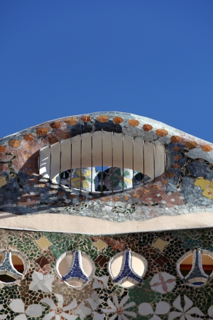 Barcelona, Detail of Casa Batll� by Gaudi Gaudi