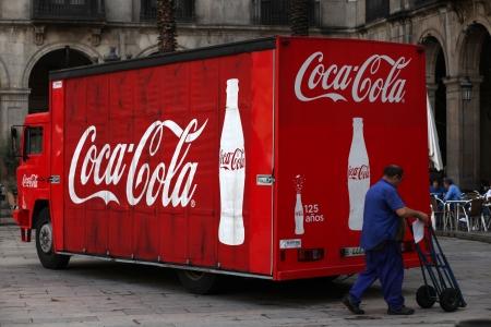 Old coca cola truck