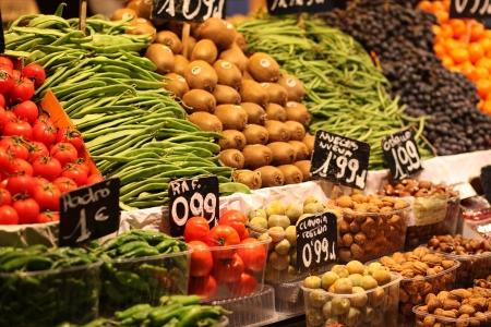 Fruits and vegetables in the Boqueria market - Barcelona - Catalonia - Cataluña