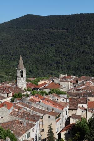 Medieval village of Bargemon, Var, 83, Provence, PACA, France. Stock Photo