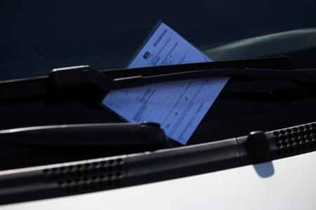 Parking ticket. Copenhagen. Denmark.