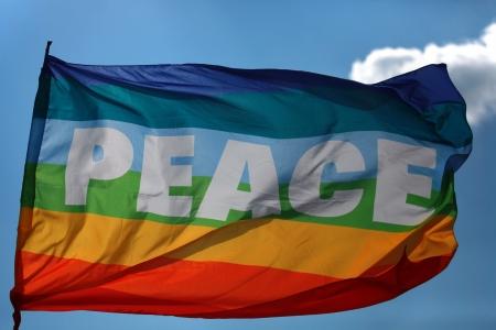 The rainbow peace flag.