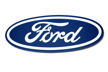 ford: Ford logo. Brand of american car. Editorial