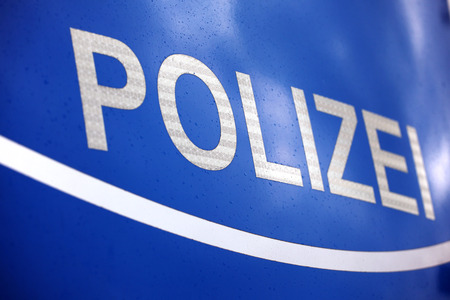 Front hood of German police car
