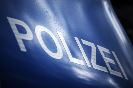 Front hood of German police car Stock Photo - 27931191