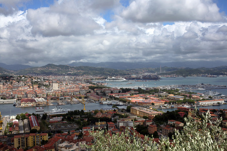 View of the La Spezia, italy