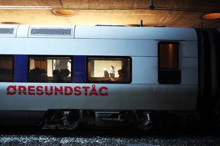 Train between Copenhagen and Malmo. The Oresundstog.