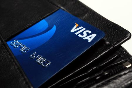 Visa Credit Card in wallet