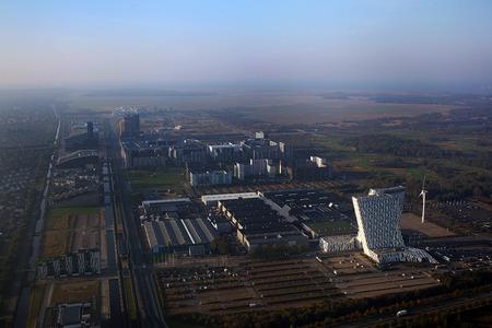 Orestad, Copenhagen, aerial view