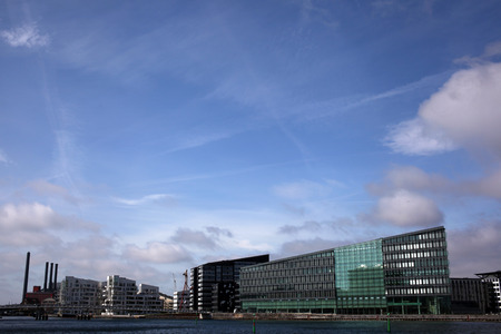 New architecture Copenhagen waterfront Stock Photo