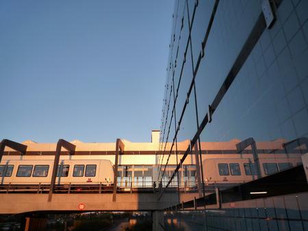 The metro from Copenhagen Airport to city center.