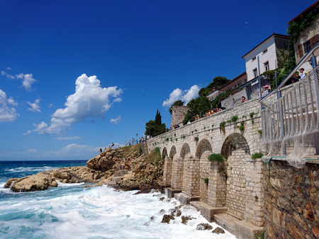 Cliffs of Rovinj, an old Picturesque town in Istria Croatia