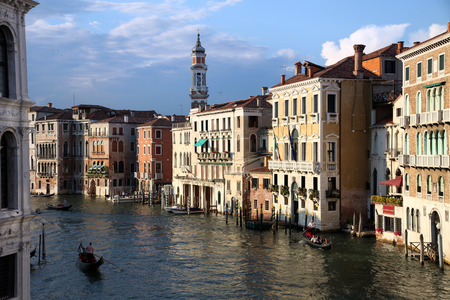 View of Canal Grande from the Rialto Bridge Stock Photo