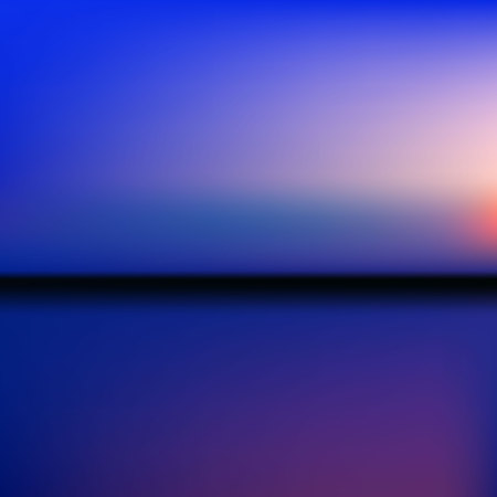 de focused: background sunset on the sea water sun reflection. Abstract sunset with de focused lights