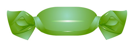 Isolated green candy. Candy icon
