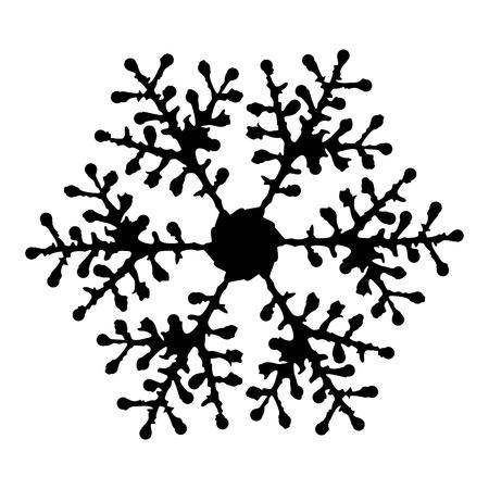 snowflake icon: Snowflake Icon graphic black and white Illustration