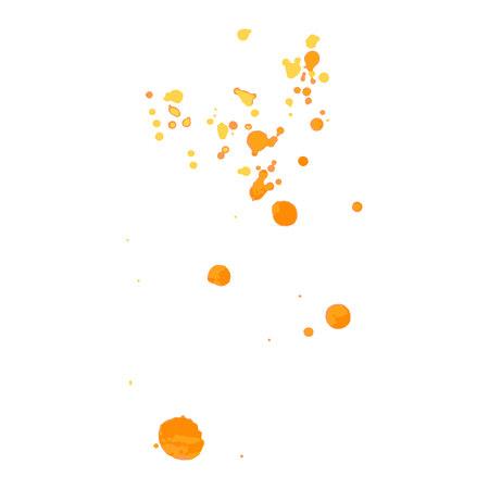 yellow paint: paint, ink, grunge, dirty brush strokes splash orange red yellow
