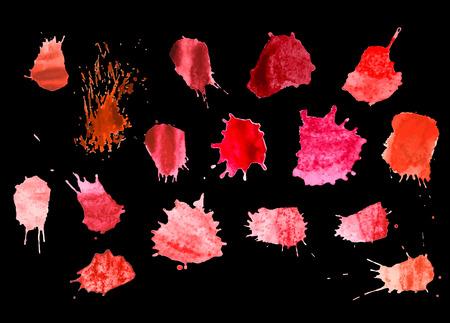 Colorful Vector Splashes - Blot, Stains Set. set splash color