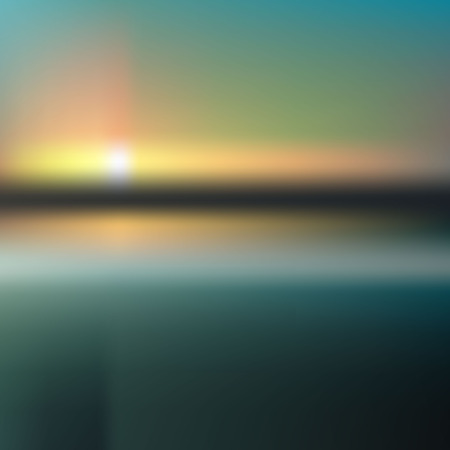 reflection in water: background sunset on the sea water sun reflection. Abstract sunset with defocused lights