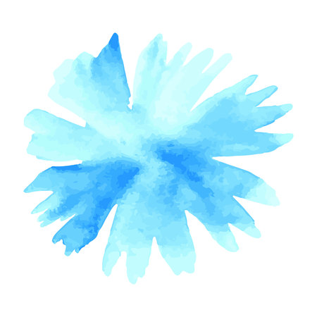 blue flower. Watercolor floral illustration. Floral decorative element. floral background