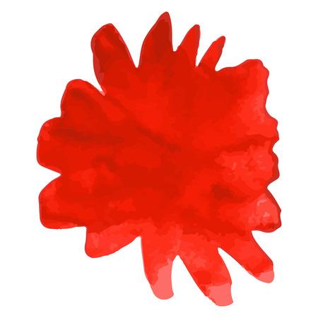 Red flower. Watercolor floral illustration. Floral decorative element. floral background