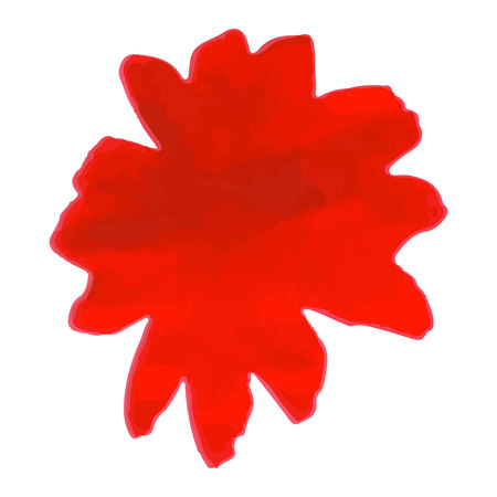 gently: Red flower. Watercolor floral illustration. Floral decorative element. floral background