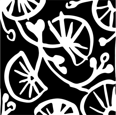 hand drawn striped pattern. Black and white. Design elements drawn strokes (the effect of gel pens)