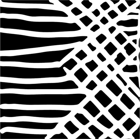 strip structure: hand drawn striped pattern. Black and white. Design elements drawn strokes (the effect of gel pens)