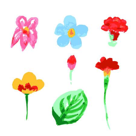 Watercolor floral illustration. Floral decorative element. floral background Illustration