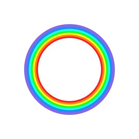 Art rainbow frame abstract