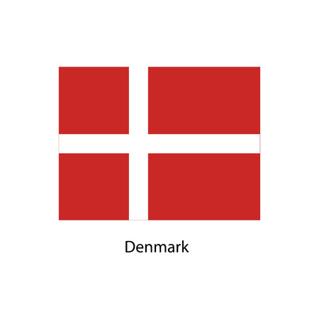 proportional: Denmark Flag. Official colors and proportion correctly. National Flag of Denmark. Denmark Flag vector illustration.