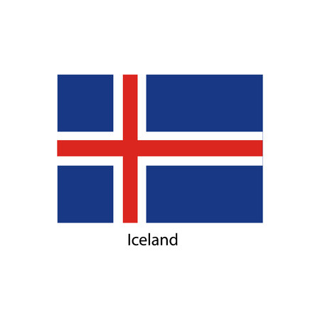 Iceland flag, official colors and proportion correctly. National Iceland flag.