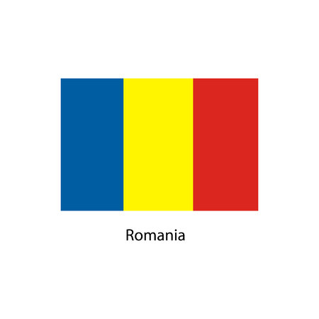 Romania flag, official colors and proportion correctly. National Romania flag. Vector illustration. Ilustrace