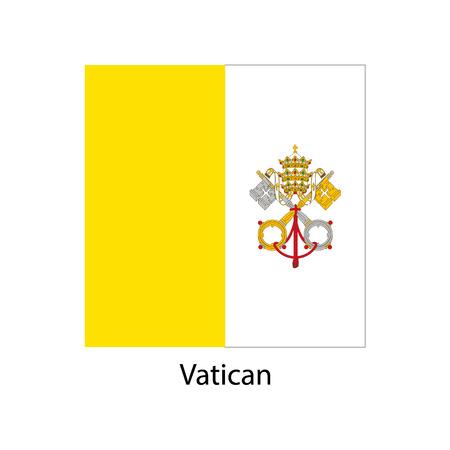 バチカン市国の旗、バチカン国旗イラスト、バチカンの国旗素材、バチカンの旗のイメージ、ベクトルします。
