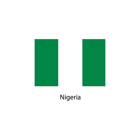 anthem: Original and simple Nigeria flag isolated vector in official colors and Proportion Correctly