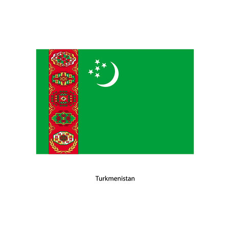 brightness: Vector Turkmenistan flag, Turkmenistan flag illustration, Turkmenistan flag picture, Turkmenistan flag image
