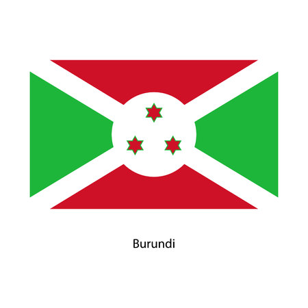 Original and simple Burundi flag isolated vector in official colors and Proportion Correctly Illustration