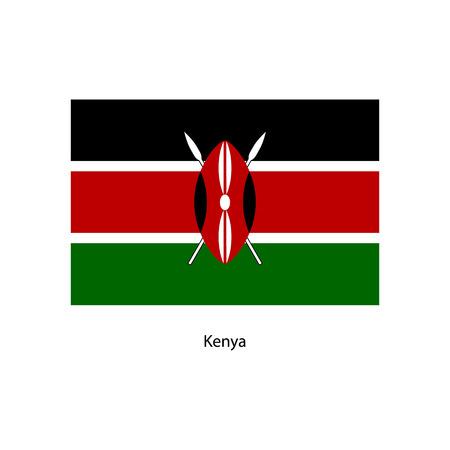 kenya: Vector Kenya flag, Kenya flag illustration, Kenya flag picture, Kenya flag image,
