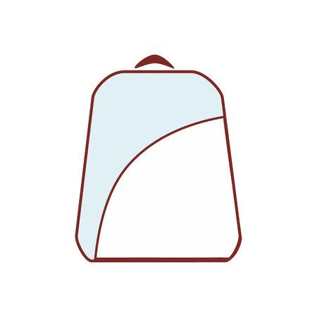 bookbag: backpack blue and white icon Illustration