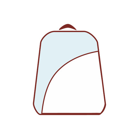 backpack blue and white icon Illustration