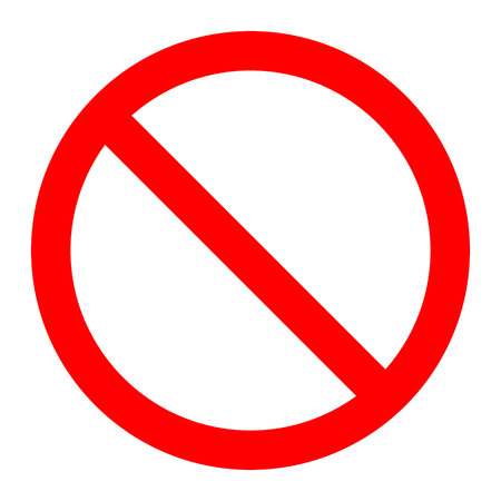 Prohibited No Stop Sign, No Sign Stock Illustratie