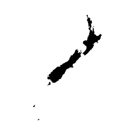 oceania: New Zealand Map. eps10 illustration.