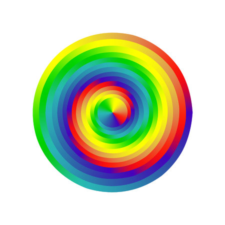 Spectrum color wheel on white background. Vector illustration Illustration