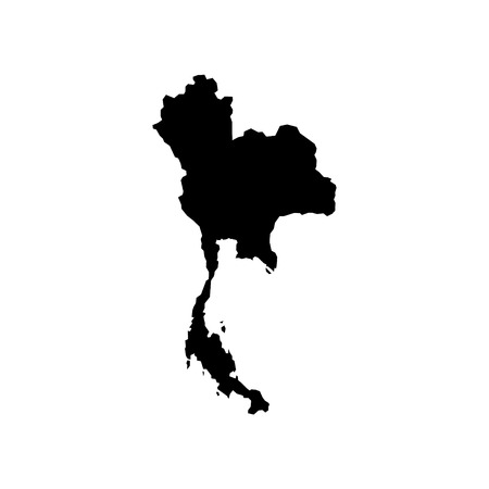 High Detailed Vector Map - Thailand Royalty Free Cliparts, Vectors ...