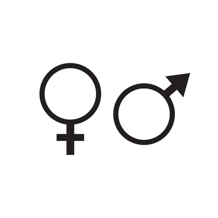 Symbols of men and women.