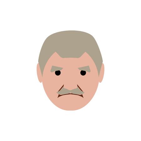 Happy grandpa cartoon illustration.