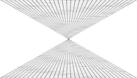 Fondo abstracto con una cuadrícula de perspectiva. Ilustración vectorial
