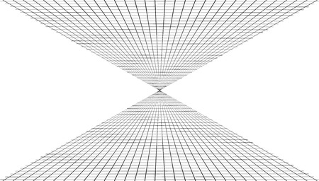Abstract background with a perspective grid. Vector illustration