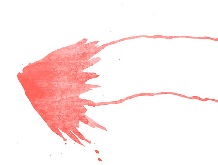 Vector watercolor butterfly. Red watercolor blot. Butterflies silhouette Иллюстрация